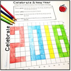 Free New Year's Mystery Picture Grid - Classroom Freebies New Years Activities, Teaching Activities, Classroom Activities, Teaching Math, Maths Resources, Math School, School Fun, School Ideas, Classroom Freebies