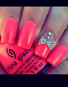 summer nails i love the bright pink Fabulous Nails, Gorgeous Nails, Pretty Nails, Fancy Nails, Love Nails, My Nails, Vernis Rose Gold, Barbie Pink Nails, Uv Lack