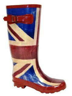 Ladies UNION JACK Wellies British American, Great British, British Style, British Party, London Calling, Union Jack, Red Cross, Best Memories, High Tea