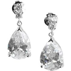 Cz By Kenneth Jay Lane Earrings ($76) ❤ liked on Polyvore