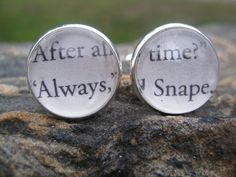 Harry Potter Always Said Snape Cufflinks Wedding by TreeTownPaper, $24.00