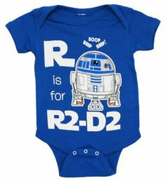 Amazon.com: Star Wars R Is For R2-D2 Mini Fine Movie Baby Creeper Romper Snapsuit: Clothing