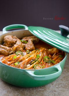 instead of the usual kimchi jjigae, I want to try making this korean dish called dwaeji galbi kimchi jjim 돼지갈비 김치찜 with pork ribs to use up my ripe kimchi (King of Food ep. 8 - 2014.07.08 - had a similar dish called 열무 등갈비찜 made by braising pork ribs & young radish leaf yeolmu kimchi 열무김치)
