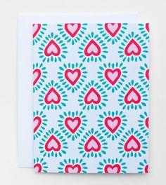 Corazon card by Happy Cactus Designs