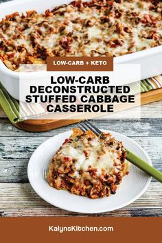 Cabbage Casserole, Casserole Dishes, Keto Casserole, Low Carb Recipes, Healthy Recipes, Clean Eating, Healthy Eating, Low Carb Casseroles, No Carb Diets