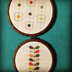 #Orla Kiely cross stitch pattern