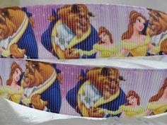 "3 yards 7//8/"" Grosgrain Ribbon Beauty And The Beast //Princess Belle DIY Hair Bow"
