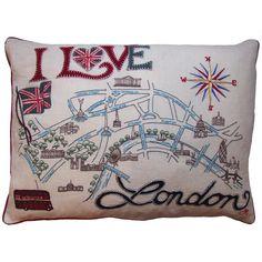 Jan Constantine  - London Map Cushion