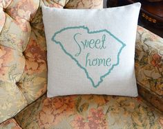 Personalized Pillow Covercustom State Map Pillow By CreativePillow - Us map pillow personalized