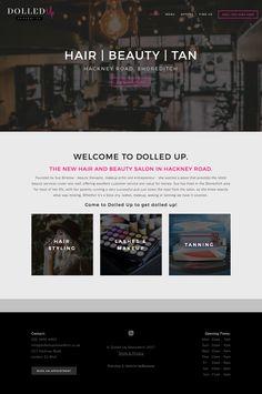 Dolled Up Shoreditch Website Design in Squarespace | byRosanna