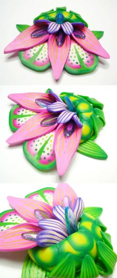 exotic pins^^ - POTTERY, CERAMICS, POLYMER CLAY by japaya