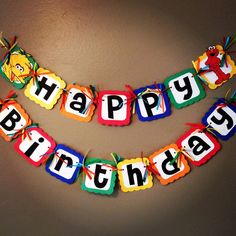 Sesame Street Birthday party Set Elmo Cookie by PurpleZebraPaperCo