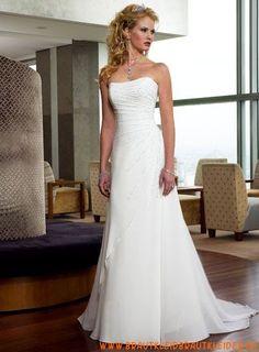 süßes Brautkleid  aus Chiffon  A-Linie