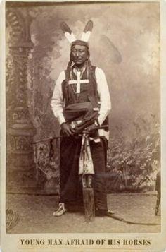Young Man Afraid Of His Horses (aka Man Afraid Of His Horses, the younger aka They Fear Even His Horses II) - Oglala  Circa 1890