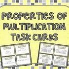 Give your students extra math practice with these 40 properties of multiplication task cards.  You'll find cards for the identity property, commutative property, and distributive property. ($)