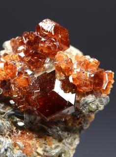 Hessonite from Laietto, Condove, Susa Valley, Torino Province, Piedmont, Italy