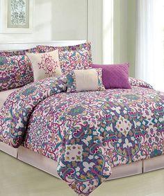 Love this Pink Middleton Six-Piece King Comforter Set on #zulily! #zulilyfinds