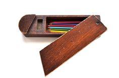 Wood pencil case