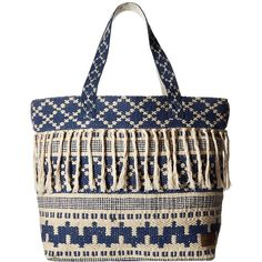 Rip Curl High Tide Beach Bag (Light Blue) Bags (305 SEK) ❤ liked on Polyvore featuring bags, handbags, white handbags, white beach bag, strap purse, summer handbags and light blue handbags