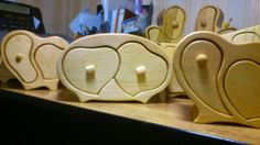 Box can be made from next kinds of wood: alder, oak, beech, pine, elm, ash. Jewelry box decorated with velvet inside.
