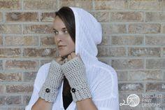 Crochet Gloves || FREE PATTERN || Rescued Paw Designs #crochet #lionbrandyarn