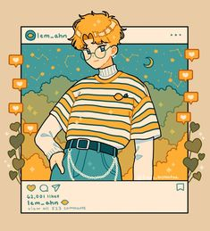 Lem IG , an art print by fresh_bobatae Aesthetic Drawing, Aesthetic Anime, Aesthetic Art, Arte Do Kawaii, Art Kawaii, Cartoon Art Styles, Cute Art Styles, Kawaii Drawings, Cute Drawings