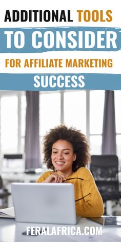 Additional Tools You Might Want To Consider For Your Affiliate Marketing Success.  #affiliatemarketing #workonline #createanonlinebusiness Online Work, Affiliate Marketing, Online Business, Africa, Success, Tools, Appliance