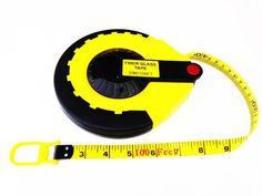 30M Long Surveyors Tape Measure Steel Reel in Hard Case with Metric /& Imperial Gradient Measurements