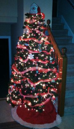 """Our Firefighter Christmas tree for our """"Hero""""."""