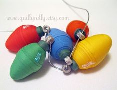 Miniature Quilled Christmas Light