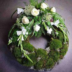 Flower Wreath Funeral, Funeral Flowers, Grave Decorations, Flower Decorations, Funeral Flower Arrangements, Floral Arrangements, Funeral Sprays, Christmas Wreaths, Christmas Decorations