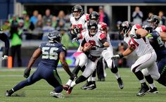 Falcons vs. Seahawks:    October 16, 2016  -  26-24, Seahawks  -    Atlanta Falcons quarterback Matt Ryan (2) runs before being sacked by Seattle Seahawks defensive end Cliff Avril (56) in the first half of an NFL football game, Sunday, Oct. 16, 2016, in Seattle.