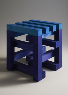 Experimental Paintings on Wooden Stools...