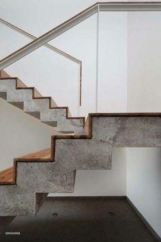 Wykończenie schodów drewno Lite beton