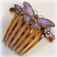 Hair accessories, hair jewelry, and Victorian jewelry by Byrd Designs. Vintage Hair Combs, Vintage Hair Accessories, Butterfly Hair, Butterfly Jewelry, Kimberly Hair, Titanic Jewelry, Barrettes, Swarovski, Hair Jewelry