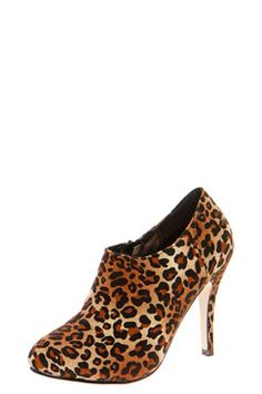 Tatyanna Leopard Mid Heel Shoe Boot