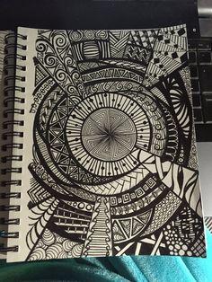 Chaos Mandala Original Zentangle Design by TheChaoticPawPrints
