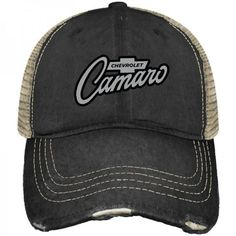 Shop Chevrolet Chevy Camaro Retro Brand Mesh Adjustable Snapback Trucker Hat Cap