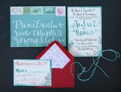 Makewells Watercolor Wedding Invitation Suite