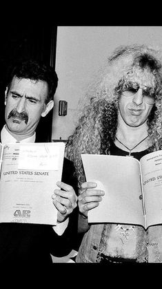 Frank Zappa and Dee Snyder reading the PMRC Senate hearing transcript
