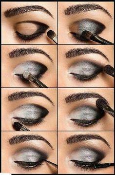 Khubsurat Beauty Tips: Steps of Smokey Eye Make up Makeup Guide, Eye Makeup Tips, Mac Makeup, Makeup Brushes, Makeup Ideas, Makeup Tutorials, Grey Makeup, Makeup Kit, Drugstore Makeup