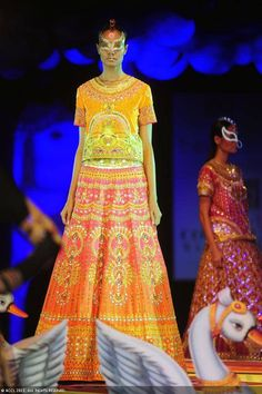 Krishna Somani walks the ramp for designer Manish Arora on Day 4 of Delhi Couture Week, held in New Delhi, on August 03, 2013