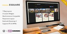 Esquare is an unique, fresh design, customizable & flexible Responsive WordPress Blog Theme.  Esquare is a simple way to create your Personal WordPress Blog or WooCommerce Shop, with no technical knowledge or expertise required!  #wordpress