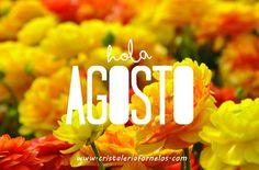 Hola Agosto!! Bienvenido Agosto....nuevo mes!