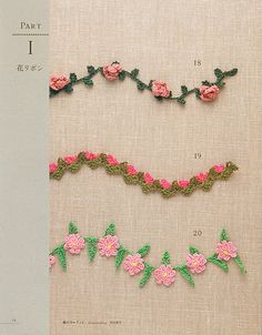 Free Patterns - Flower motifs