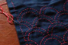 sashiko embroidery!