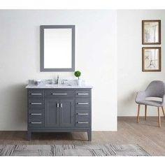 Danny Maple Grey 42-inch Single Bathroom Vanity Set | Overstock.com Shopping - The Best Deals on Bathroom Vanities