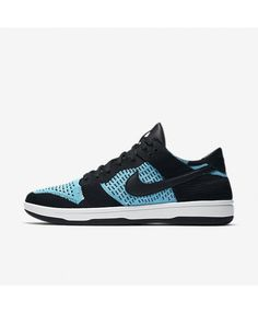 best loved 04795 ac415 Nike Dunk Low Flyknit Black Summit White Chlorine Blue 917746-001