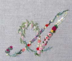 Mille fiori alphabet - A — French Needlework Kits, Cross Stitch, Embroidery, Sophie Digard — The French Needle