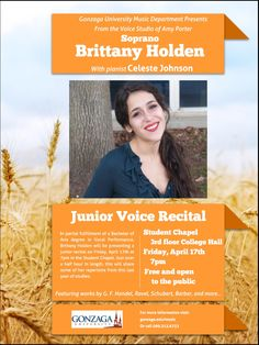 Junior voice recital